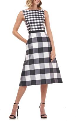 Kay Unger Pauline A-Line Midi Dress