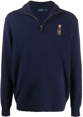 Polo Ralph Lauren Teddy Bear-Patch Knitted Jumper