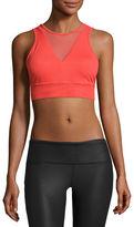 Alo Yoga Jubilee Mesh-Inset Sports Bra, Black