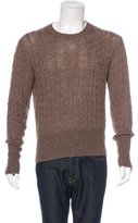 Prada Wool-Blend Cable Knit Sweater