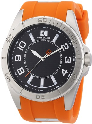 HUGO BOSS Orange Rubber Strap 1512808Mens Wrist Watch