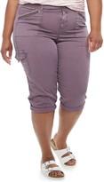 Evri Plus Size EVRI Utility Capri Pants