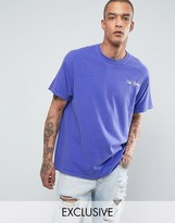 Reclaimed Vintage Inspired Oversized T-Shirt In Overdye With Embroidered Slogan
