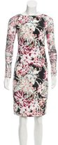 L'Agence Floral Print Silk Dress w/ Tags