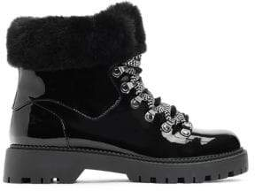 Katy Perry The Henry Faux Fur-Trim Faux Leather Winter Boots