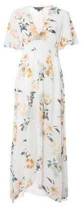 Dorothy Perkins Womens Ivory Midi Kimono Dress