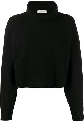 Pringle Cropped Roll-Neck Sweater