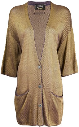 Jean Paul Gaultier Pre Owned 1985 Changeant Knitted Cardigan