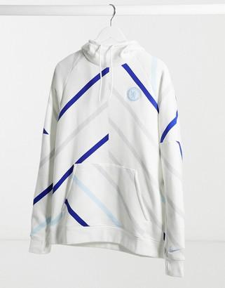 Nike Football Chelsea GFA hoodie in white