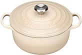 Le Creuset Cast Iron Round Casserole Almond - 20cm