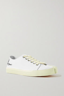 Maison Margiela Split-toe Logo-print Canvas Sneakers - White