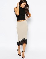 Asos Pencil Skirt with Lace Hem