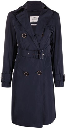 Herno Double-Breasted Belted Trench Coat