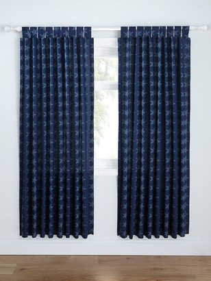 Catherine Lansfield Stars & Stripes Lined Curtains