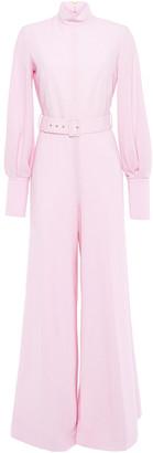 Emilia Wickstead Elvis Belted Wool-crepe Jumpsuit