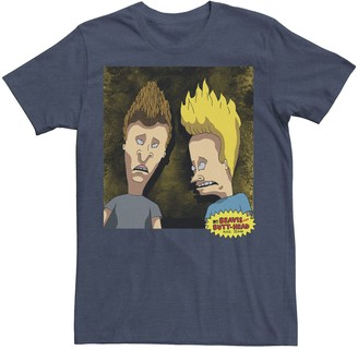 Licensed Character Men's Beavis and Butt-Head Detailed Portrait Graphic Tee