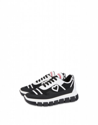 Love Moschino Mesh Sneakers Love Tassel Woman Black Size 35 It - (5 Us)