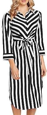 Vince Camuto Striped Shirt Dress