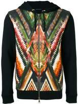 Balmain folkloric print hoodie