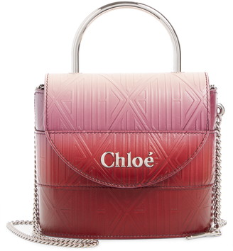Chloé Aby Lock Monogram Embossed Leather Crossbody Bag