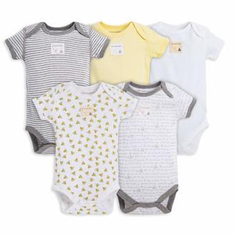 Burt's Bees Baby Set of 5 Bee Essentials Short Sleeve Bodysuits