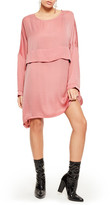 Missguided Oversized Satin Shift Dress