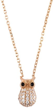 Latelita Wise Owl Small Pendant Necklace Rose Gold
