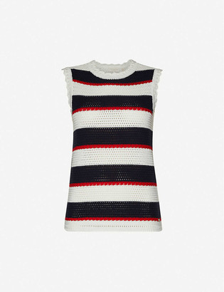 Ted Baker Crocheted cotton-knit top