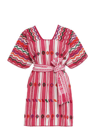 Pippa Holt Striped Cotton Mini Dress