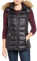 Kate Spade Women's Down Vest With Faux Fur Trim