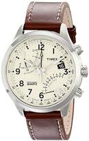 Timex Men's T2N932 Intelligent Quartz Fly-Back Chronograph Leather Strap Watch