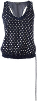 Emporio Armani polka dot tank top - women - Cotton/Polyester/Viscose - 40