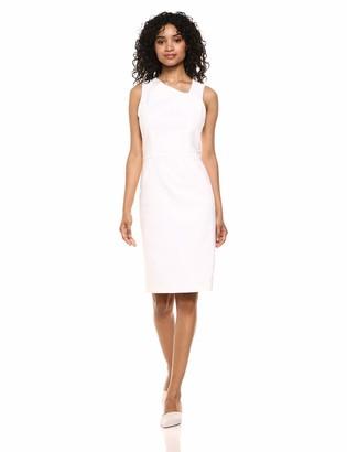 Halston Women's Sleeveless Aysmmetrical-Neck Linen Dress