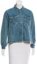 Sea Lace-Accented Denim Jacket