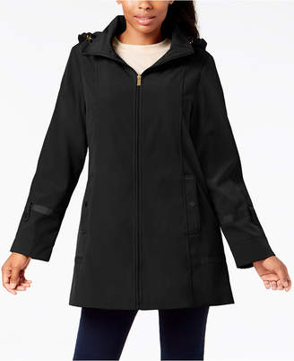 Jones New York Front-Zip A-Line Raincoat