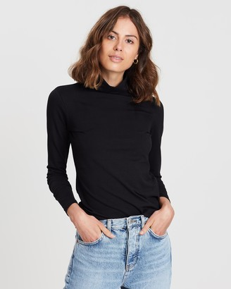 People Tree Laila Roll Neck Top