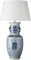 OKA Shenzu Ceramic Chinese Table Lamp - Blue