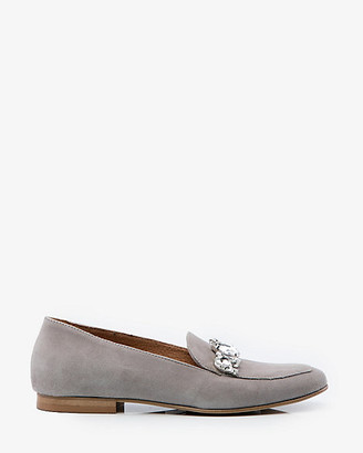 Le Château Italian-Made Embellished Suede Loafer