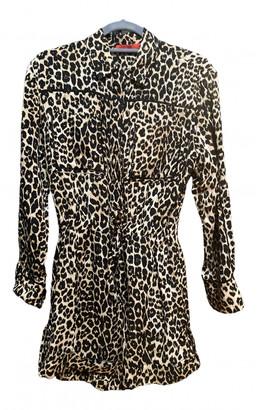 Tamara Mellon Brown Silk Jumpsuits