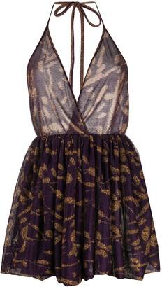 Missoni Halter Neck Metallic Knit Dress