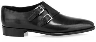 John Lobb Chapel Double Monk Strap Leather Shoes