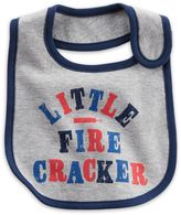 "Carter's ""Little Firecracker"" Bib in Grey"