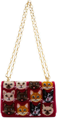 Dolce & Gabbana Multicolor Cats Shoulder Bag