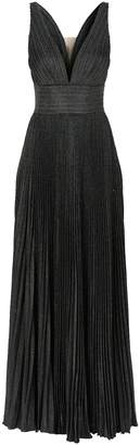 Jovani Pleated Lurex Glitter Gown