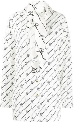 Versace GV signature-print shirt