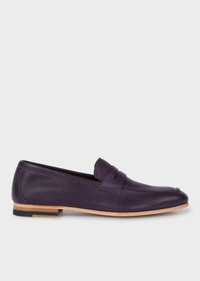 Paul Smith Women's Aubergine Leather 'Glynn' Loafers