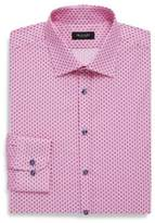 Sand Classic Fit Printed Cotton Dress Shirt