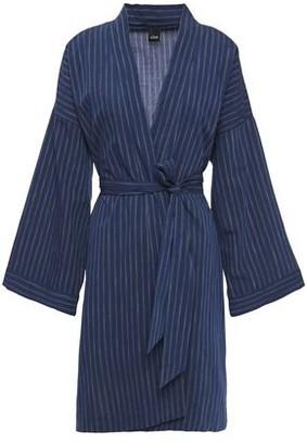 ELSE Robie Belted Striped Cotton Robe