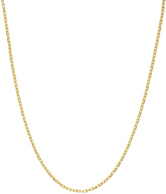 Primavera 24k Gold Over Sterling Silver Oval Link Chain Necklace
