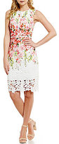 Antonio Melani Jolene Printed Chemical Lace Dress